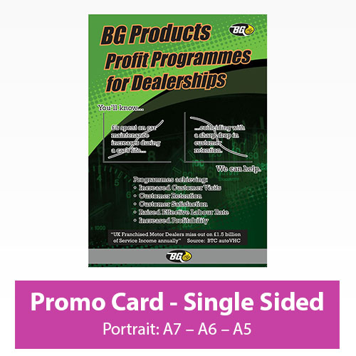 Picture of Promotional Card - Portrait - Single Sided