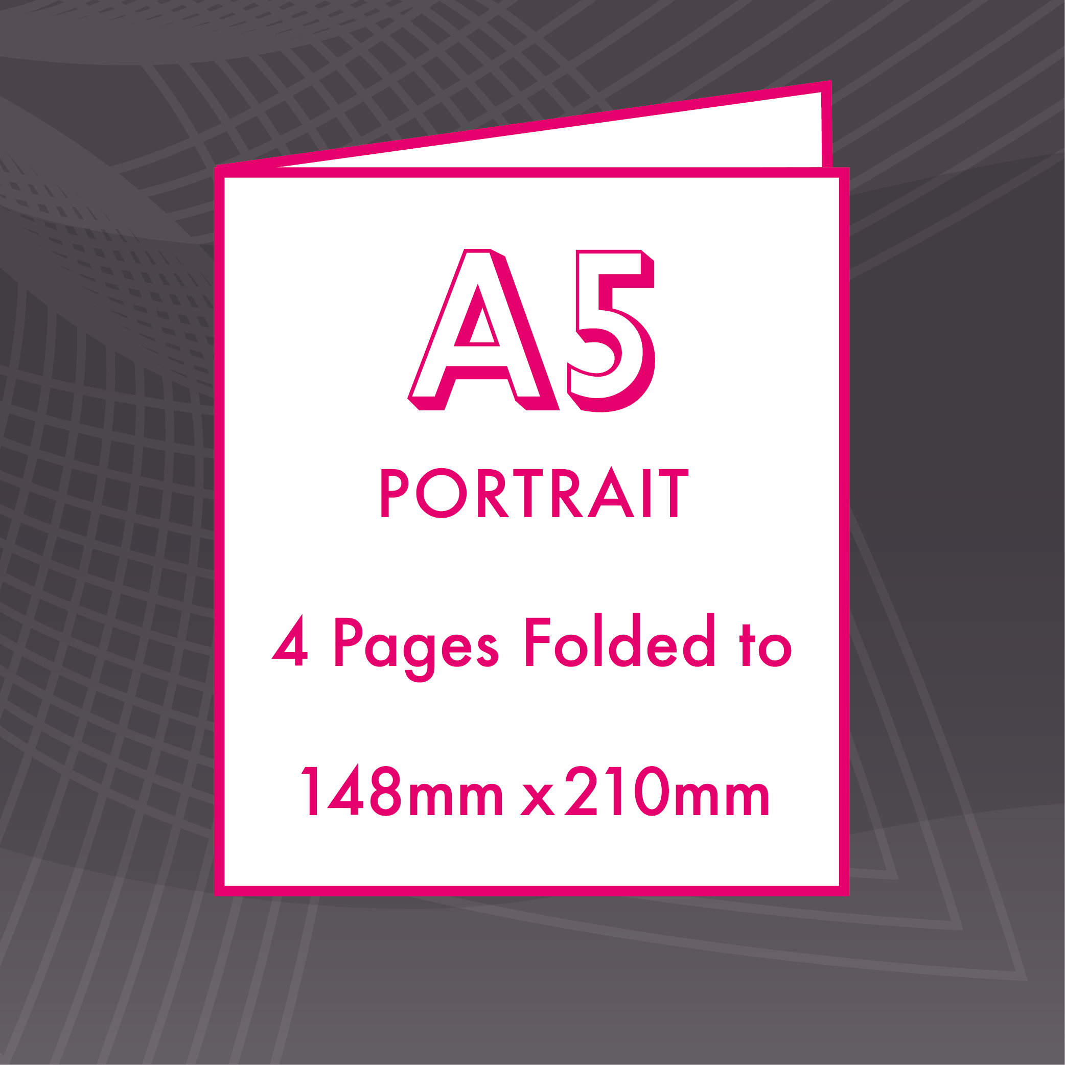 Picture of A5 Portrait - Folded 4 Pages Flyers