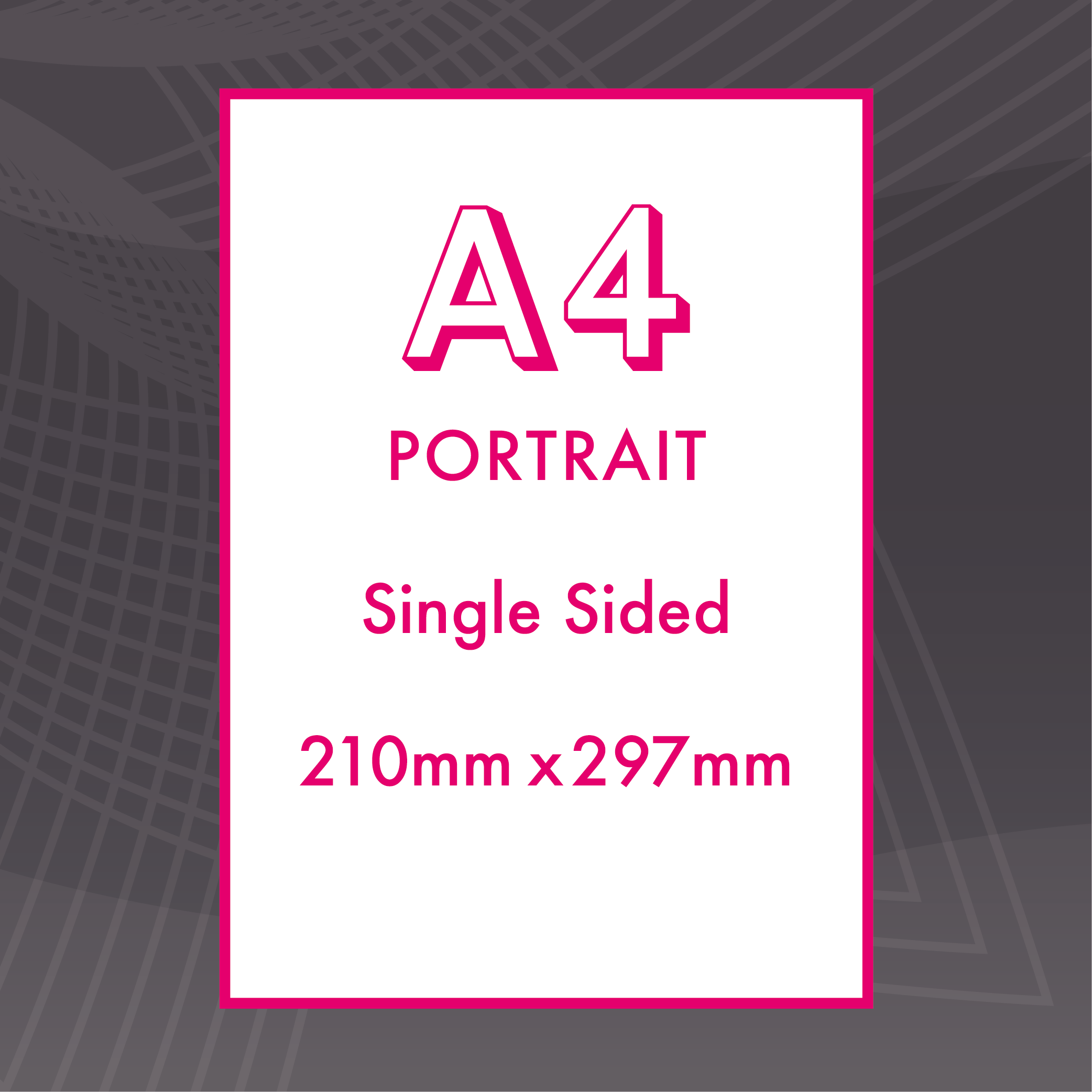 Picture of A4 Portrait - Single Sided - ME