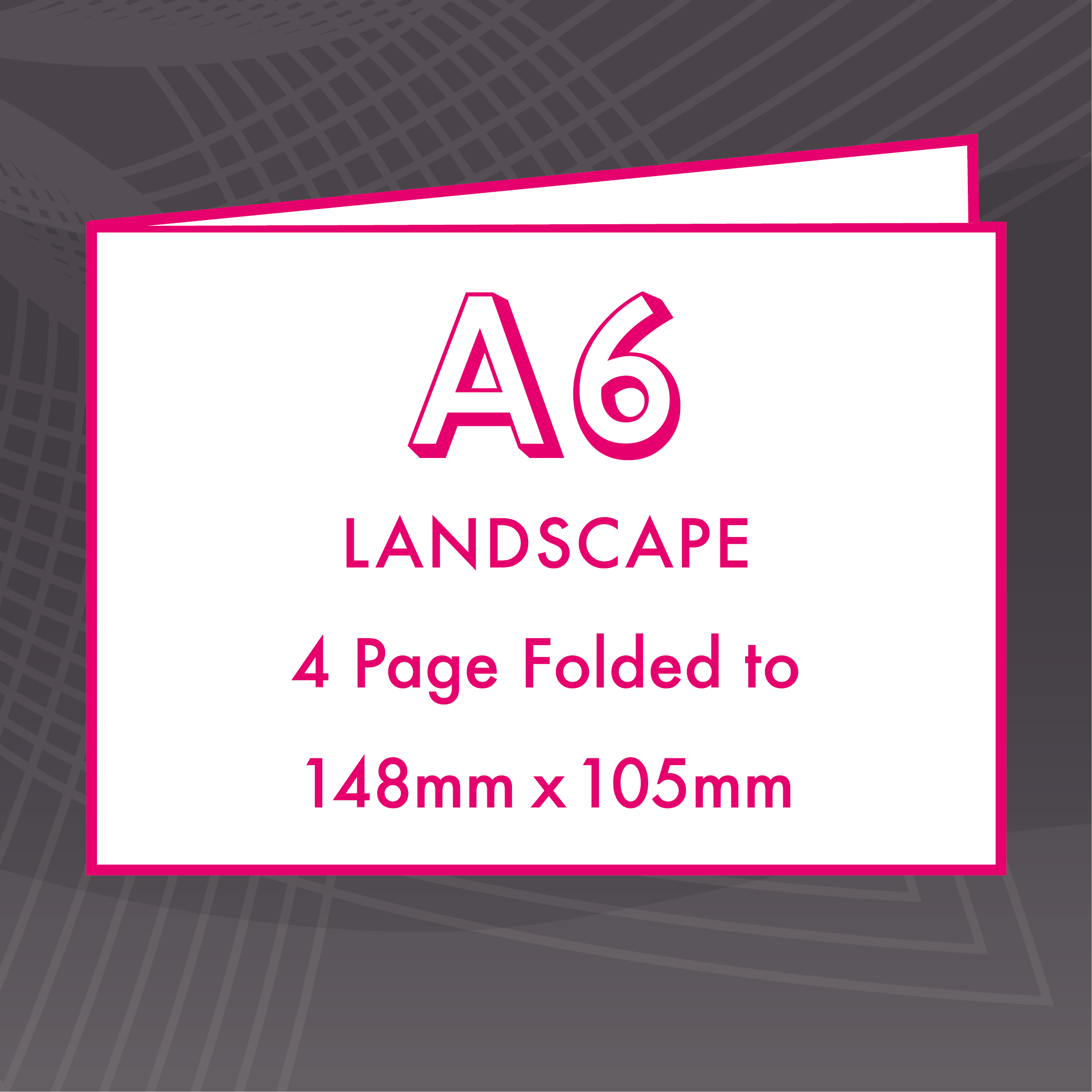 Picture of A6 Landscape - Folded 4 Pages - Upload