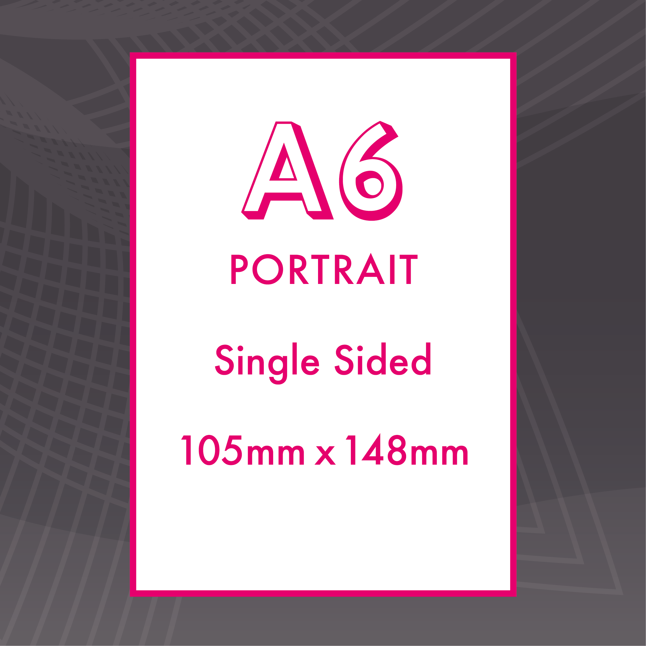 Picture of A6 Portrait - Single Sided - Upload
