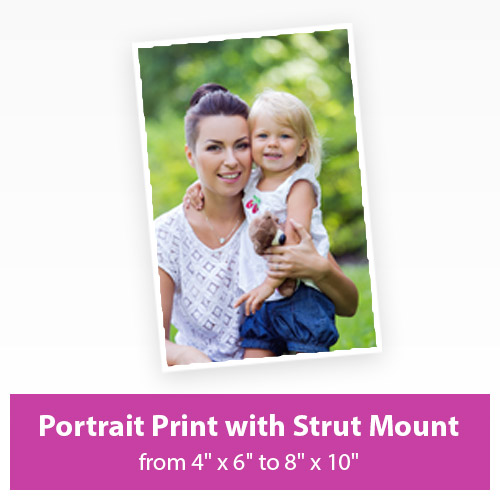 Picture of Portrait Print with Strut Mount