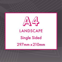 Picture of A4 Landscape - Single Sided Flyers