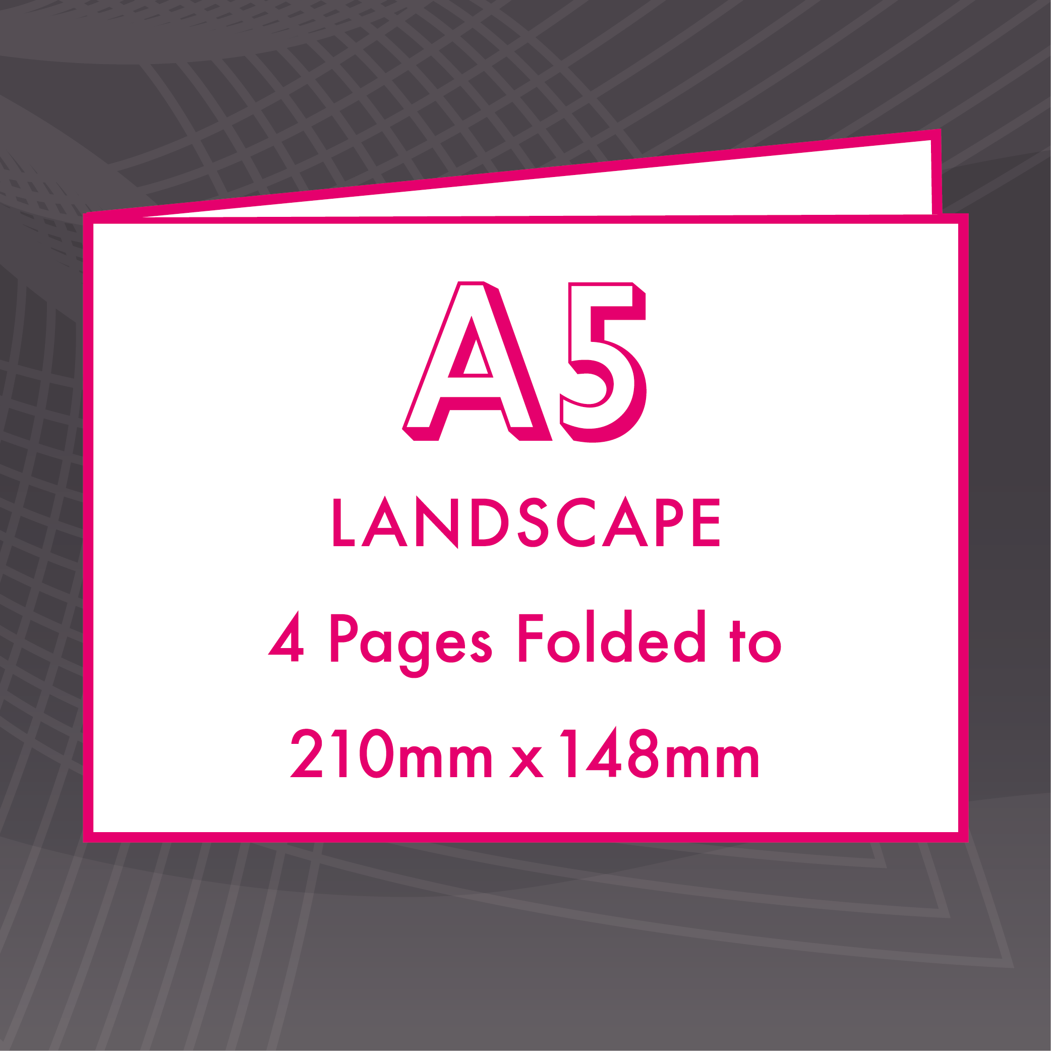 Picture of A5 Landscape - Folded 4 Pages Flyers