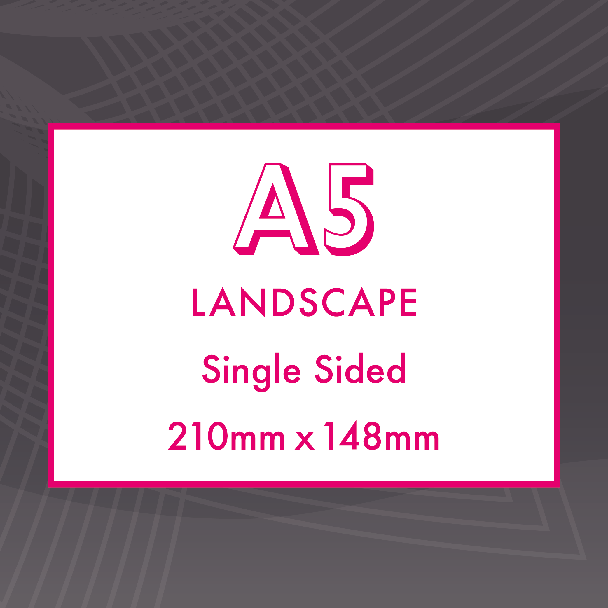 Picture of A5 Landscape - Single Sided - ME