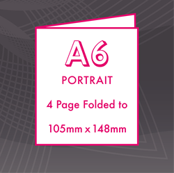 Picture of A6 Portrait - Folded 4 Pages Flyers