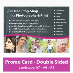 Picture of Promotional Card - Landscape - Double Sided