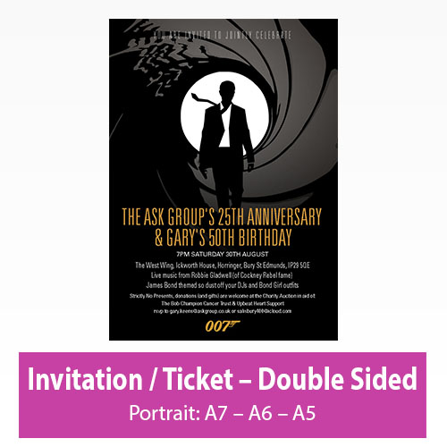 Picture of Invitation - Portrait - Double Sided