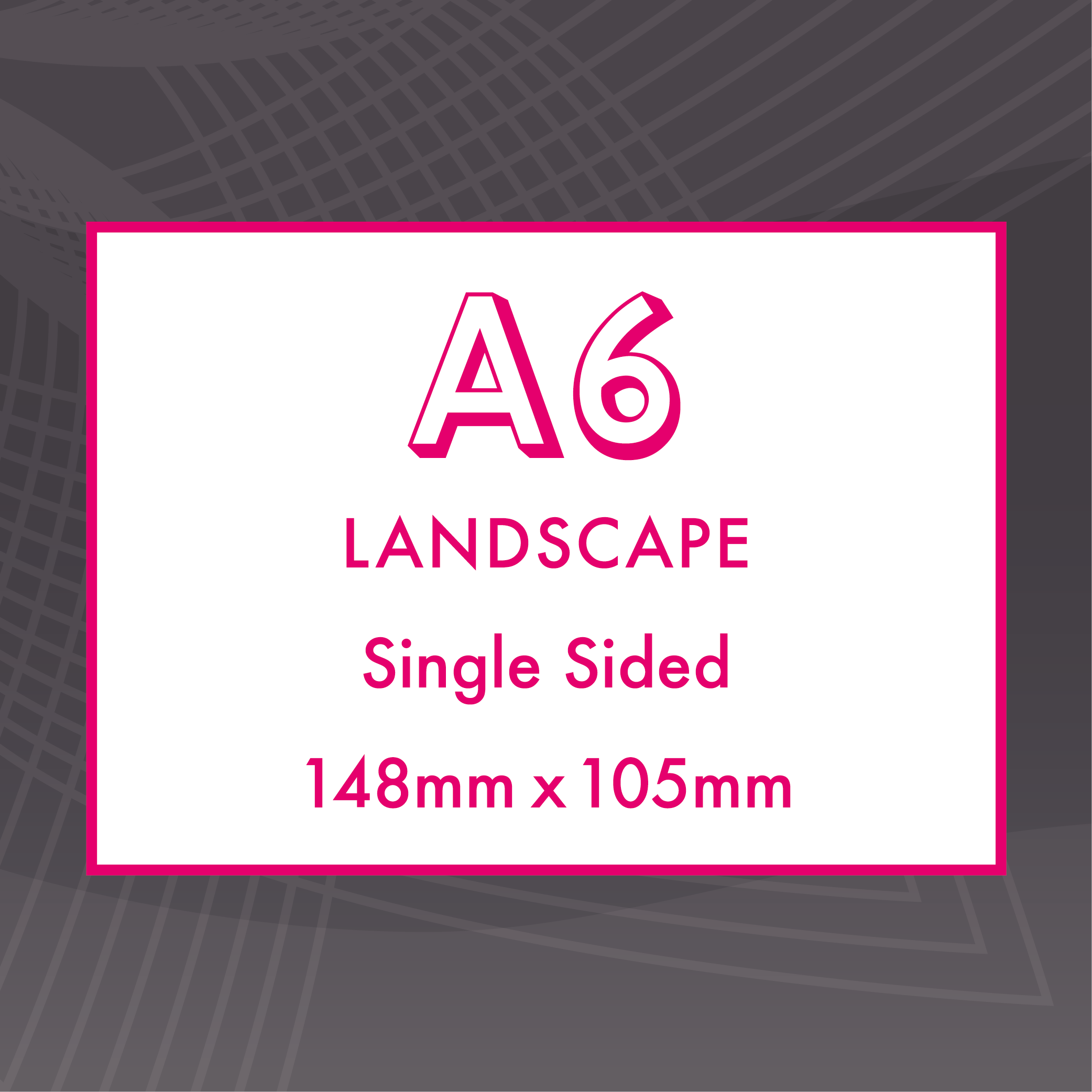 Picture of A6 Landscape - Single Sided - Upload