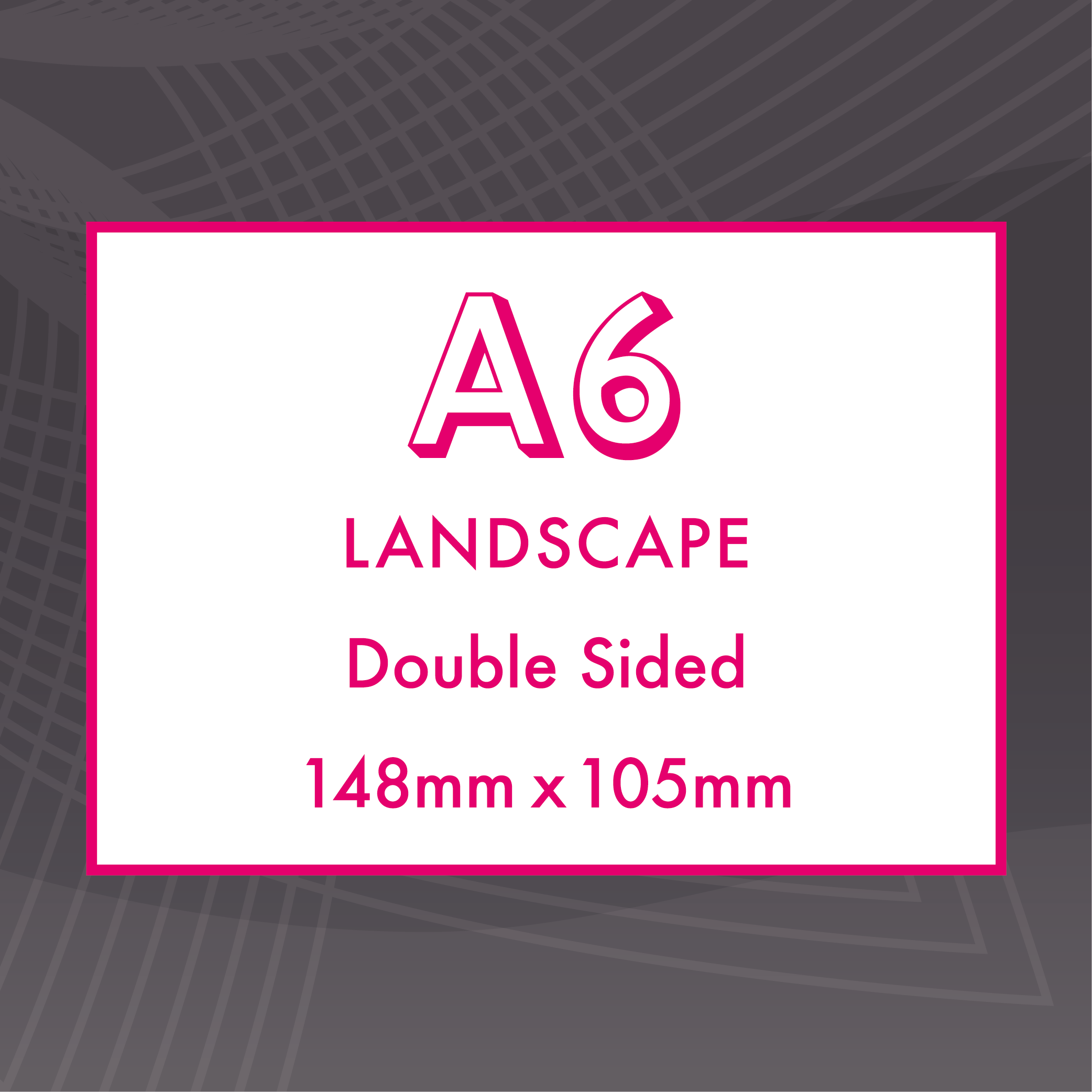Picture of A6 Landscape - Double Sided - ME