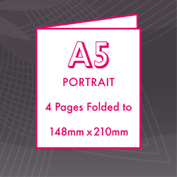 Picture of A4 Portrait - Folded 4 Pages Flyers