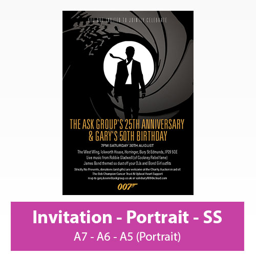 Picture of Invitation - Portrait - Single Sided