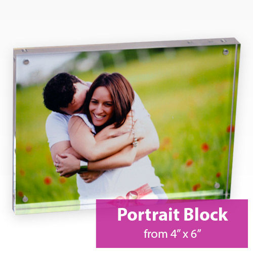 Picture of Portrait Acrylic Block