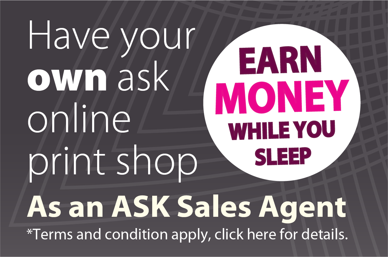 ASK Print sales agent & franchise opportunties