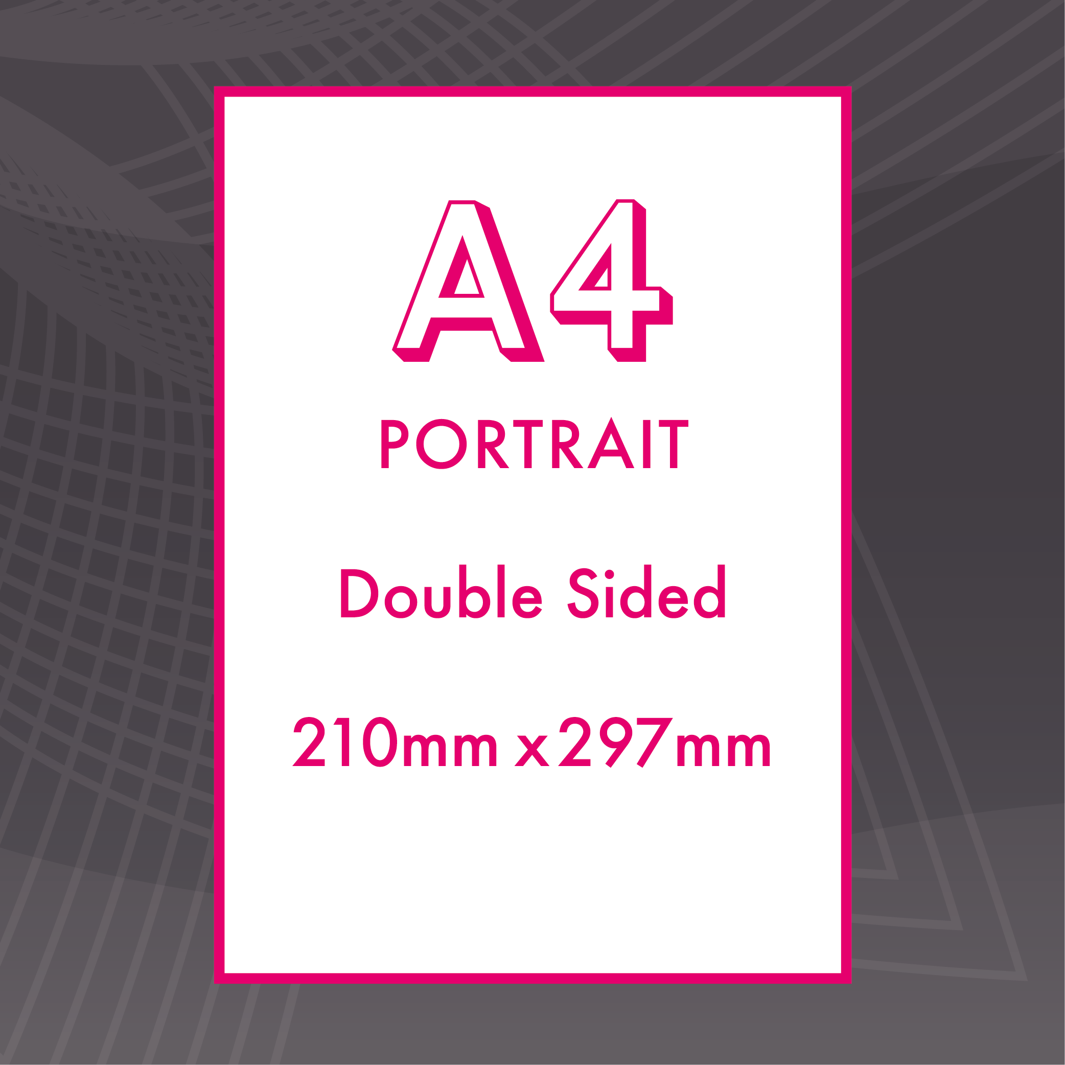 Picture of A4 Portrait - Double Sided - Upload