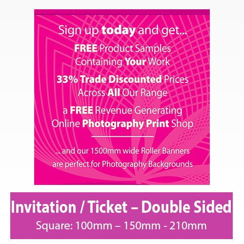 Picture of Invitation - Square - Double Sided