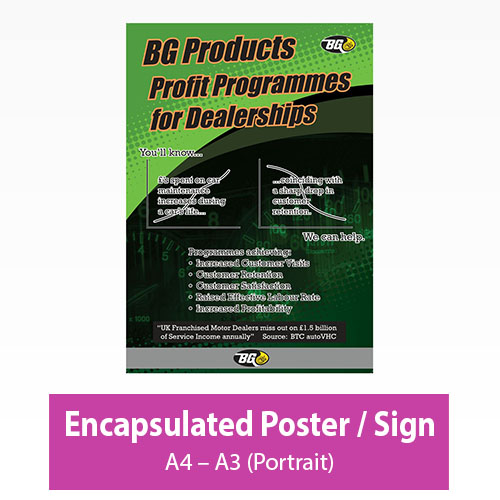 Picture of Encapsulated Poster/Sign - Portrait
