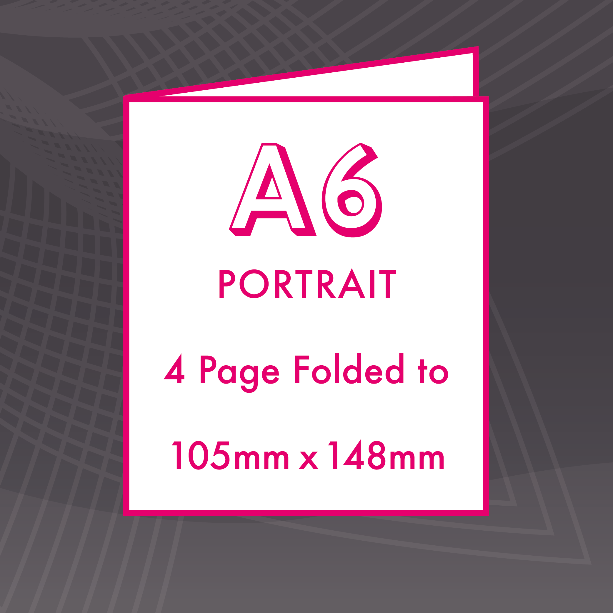 Picture of A6 Portrait - Folded 4 Pages - ME