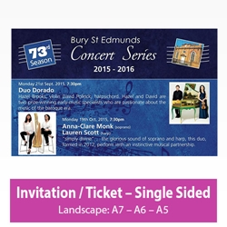 Picture of Invitation - Landscape - Single Sided