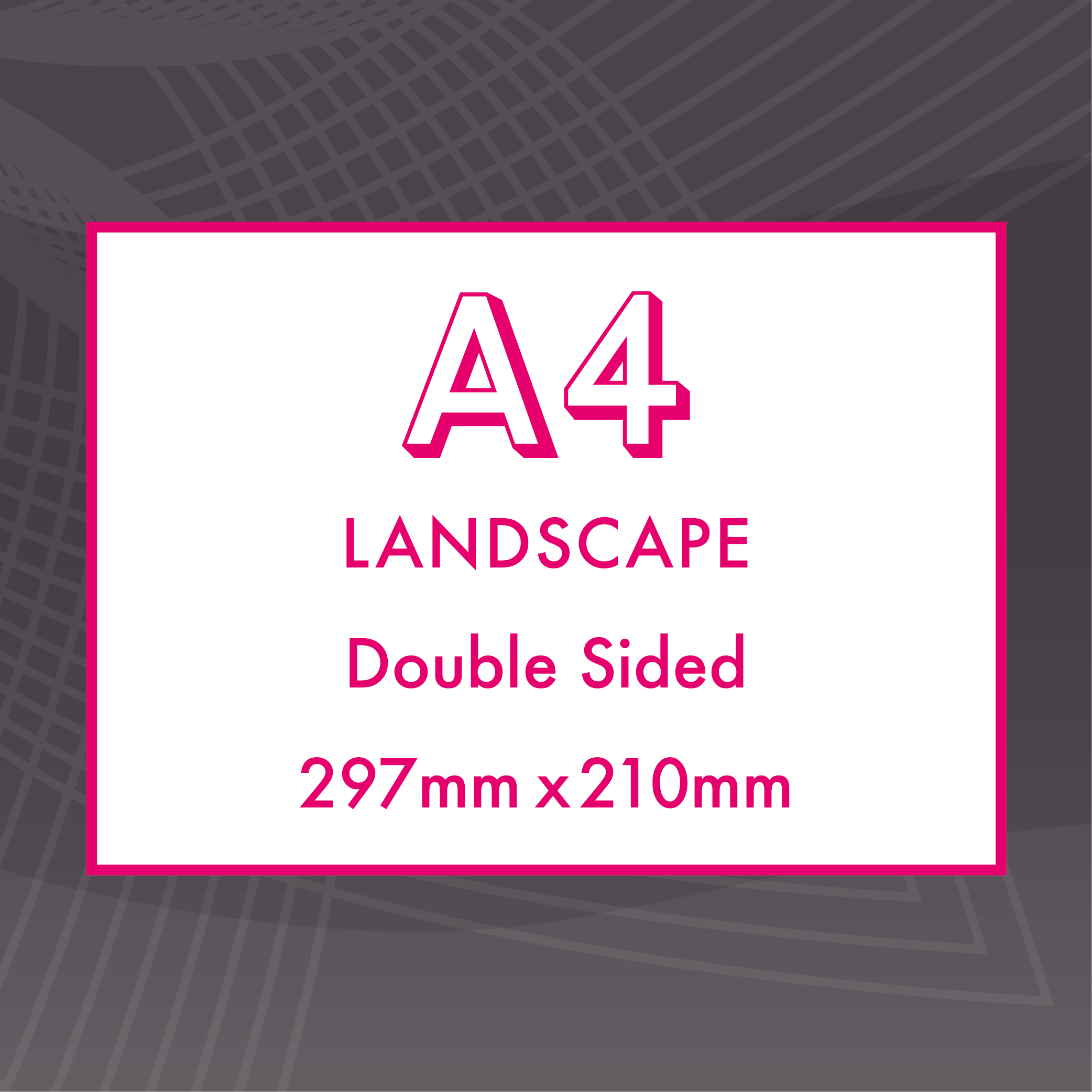 Picture of A4 Landscape - Double Sided - Upload