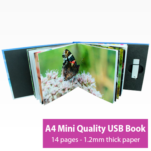 Picture of A4 Mini 14 Page USB Book