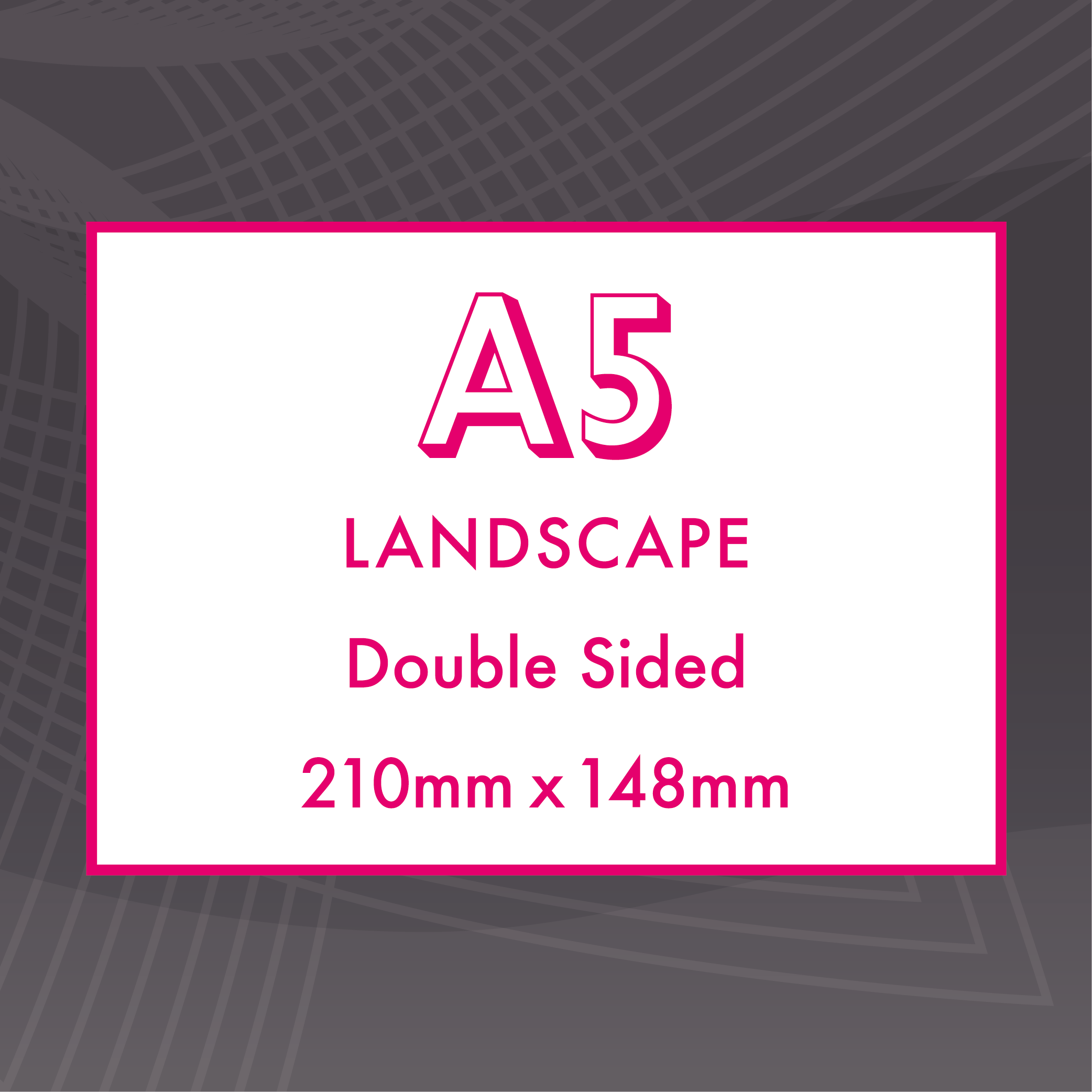 Picture of A5 Landscape - Double Sided - Upload