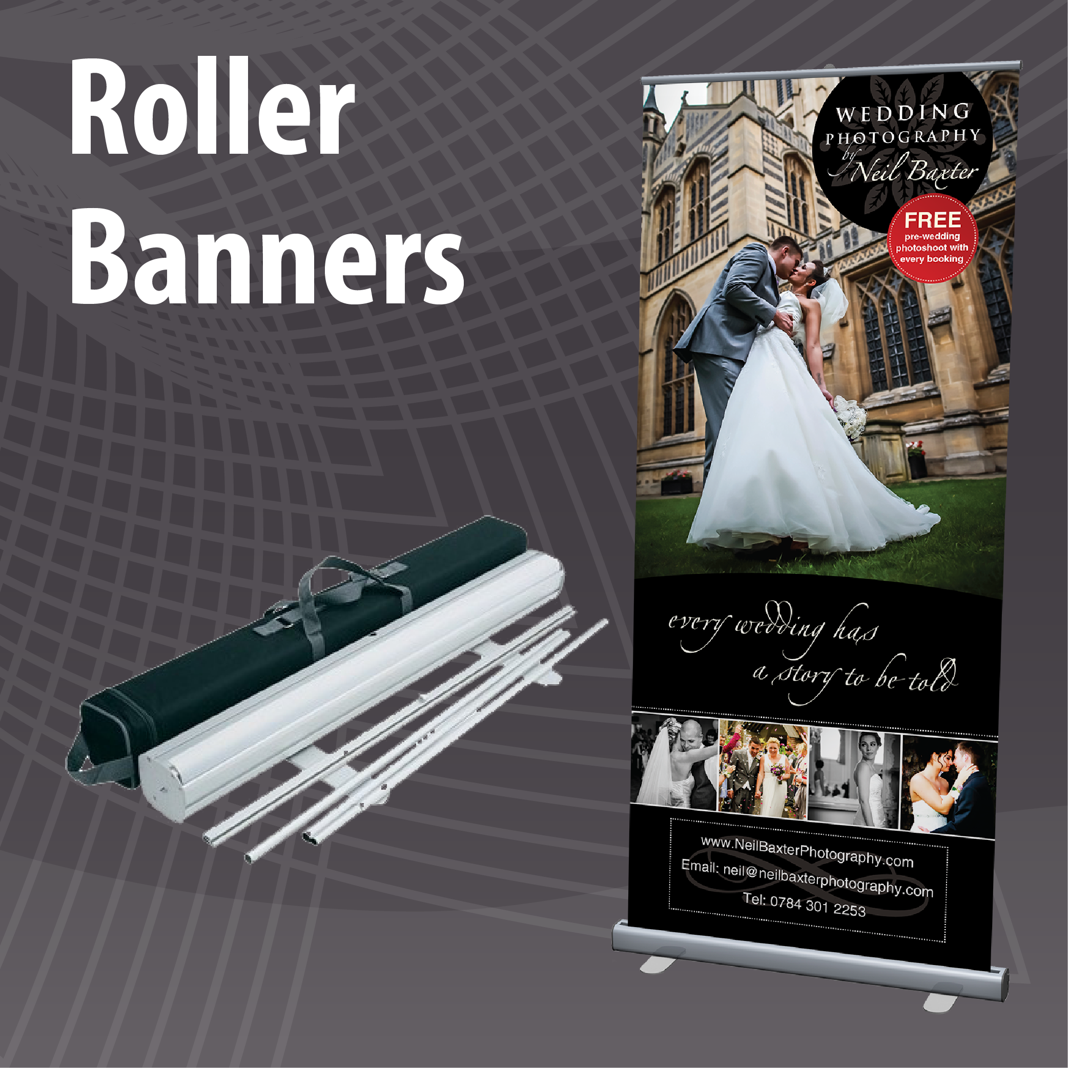 Low Cost Roller Banner Printing